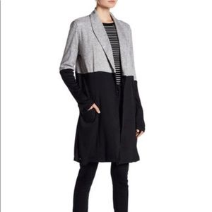 Doe & Rey Black & Grey Colorblock Cardigan Size XL